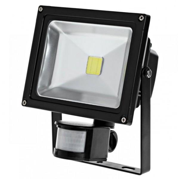 LAMPA LED 20W 6400K + SENSOR RUCHU I ZMIERZCHU NAŚWIETLACZ