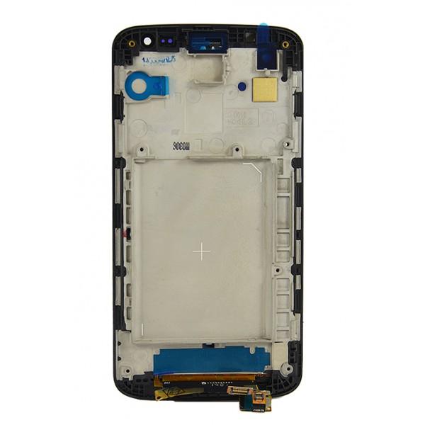 MODUŁ WYŚWIETLACZ LCD + DIGITIZER LG G2 MINI  Z RAMKĄ CZARNY BULK