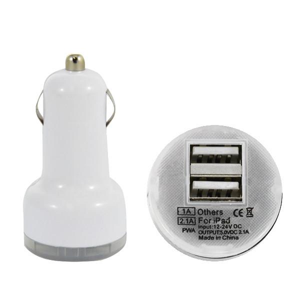 Hurtownia GSM Pro link ŁADOWARKA SAMOCHODOWA USB 2A BIAŁA