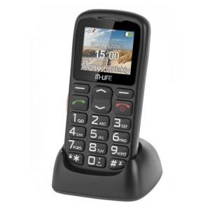 TELEFON GSM DLA SENIORA M-LIFE STACJA DOKUJĄCA CZARNY ML0639