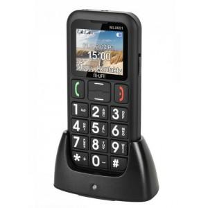 TELEFON GSM DLA SENIORA M-LIFE STACJA DOKUJĄCA DUAL SIM CZARNY ML0651