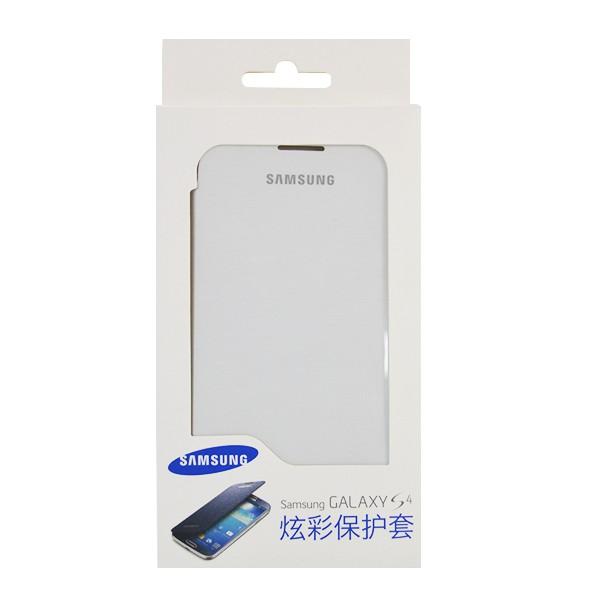 KABURA SAMSUNG GALAXY S4 I9505 I9500 EF-FI950BWEGCN POKROWIEC BIAŁY BOX ORYGINALNY FLIP COVER ETUI