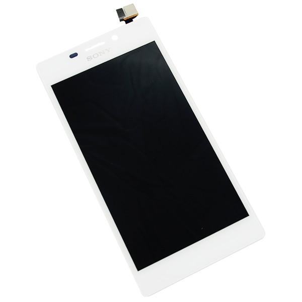 MODUŁ DIGITIZER + WYŚWIETLACZ LCD SONY XPERIA M2 D2305 D2306 S50H  EKRAN DOTYKOWY DOTYK DIGI BULK BIAŁY