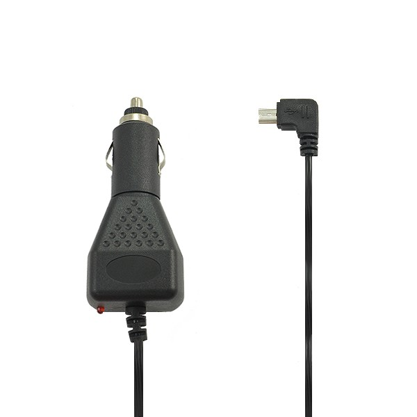 ŁADOWARKA SAMOCHODOWA MINI USB 2A CZARNA VEGA WTYK KĄTOWY 2000mAh