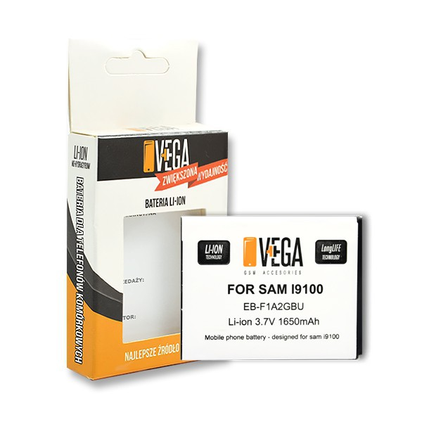 BATERIA VEGA SAMSUNG GALAXY S2 I9100 EB-F1A2GBU BAT 1650mAh BOX