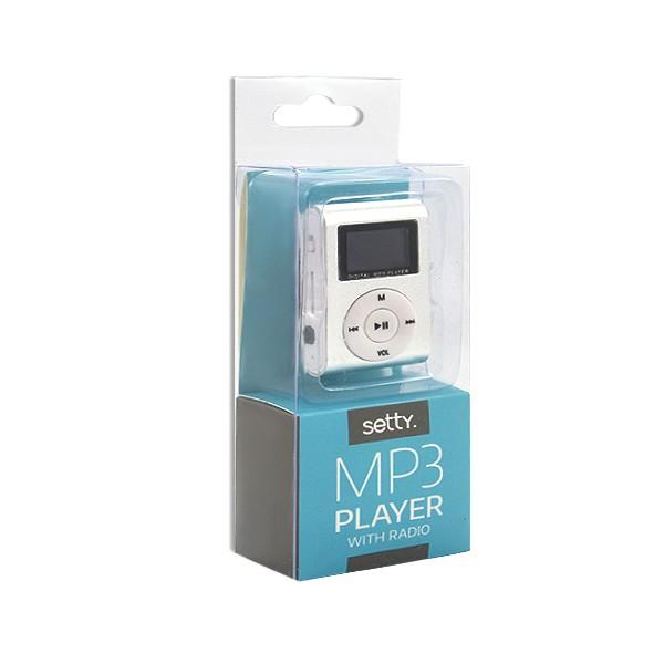ODTWARZACZ MP3 LCD + CZYTNIK KART SREBRNY