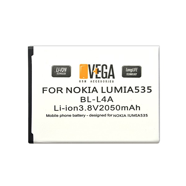 BATERIA VEGA LUMIA 535 540 2050mah BL-L4A