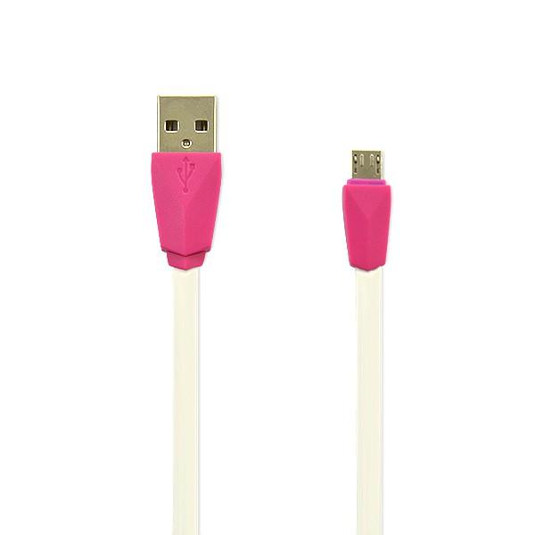 KABEL USB MICRO BIAŁY VEGA PRESTIGE  SILIKON