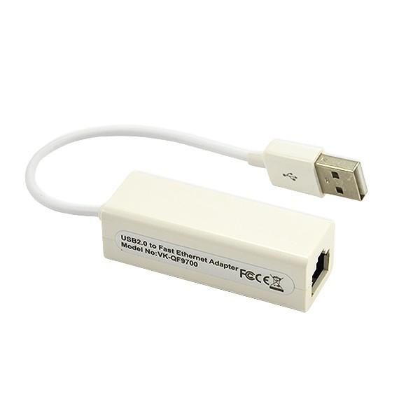 KARTA SIECIOWA USB ETHERNET RJ45 BIAŁA