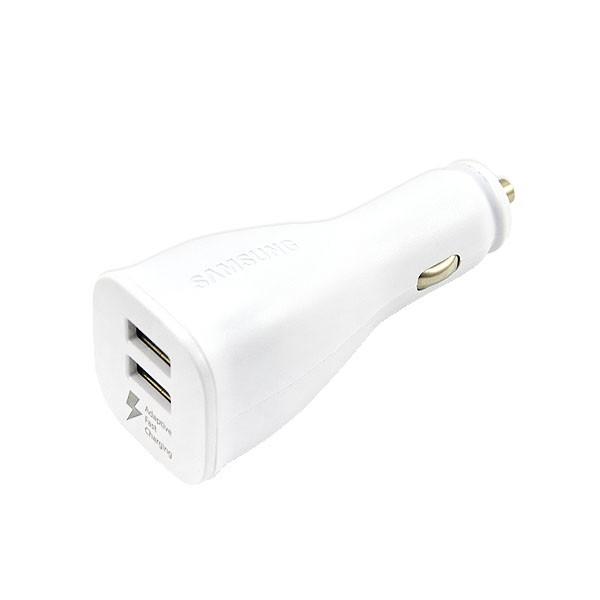 ŁADOWARKA SAMOCHODOWA 2 X USB 2A BIAŁA EP-LN920U NOTE4 S5 S6 A1 UNIWERSALNA fast Dual USB 2xUSB 2000mAh