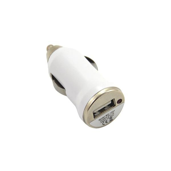 ŁADOWARKA SAMOCHODOWA USB 1A BIAŁA  BASIC 1000mAh