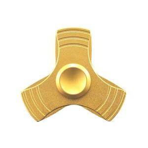 FINGER SPINNER PREMIUM ALU ZABAWKA ANTYSTRESOWA FIDGET SPINNER TORR gold