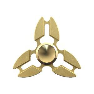 FINGER SPINNER PREMIUM ALU ZABAWKA ANTYSTRESOWA FIDGET SPINNER FLOW GOLD