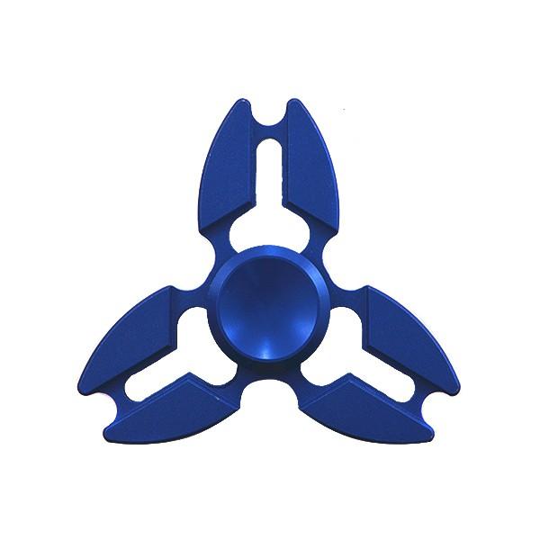 FINGER SPINNER PREMIUM ALU ZABAWKA ANTYSTRESOWA FIDGET SPINNER FLOW BLUE