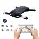 DRON LATAJĄCY FOLDABLE CZARNY - WIFI HD VIDEO 2MPX - OPCJA 3D VR / FLIGHT PLAN