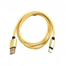 KABEL MICRO USB TYPE-C ZŁOTY NYLON BOX TYPU C GOLD