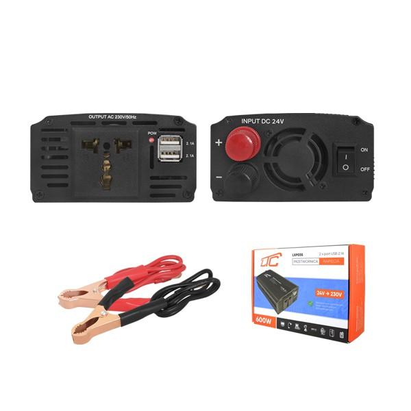 PRZETWORNICA 600W 12V/230V LTC 2XUSB 2,1A DUAL USB