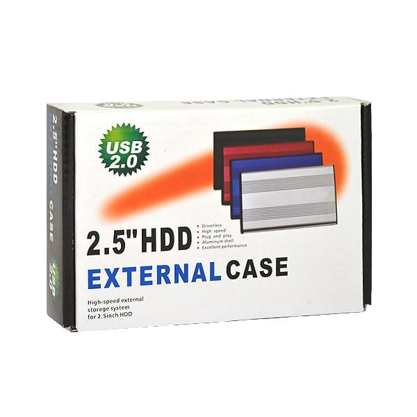 OBUDOWA DYSKU HDD SATA 2,5 CALA USB 2.0 ALUMINIUM CZARNA