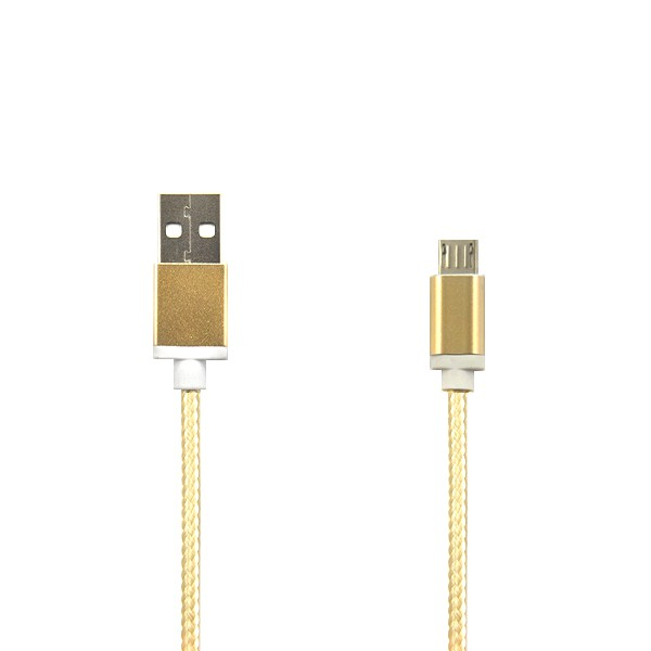 KABEL MICRO USB ZŁOTY NYLON 1,5m GOLD
