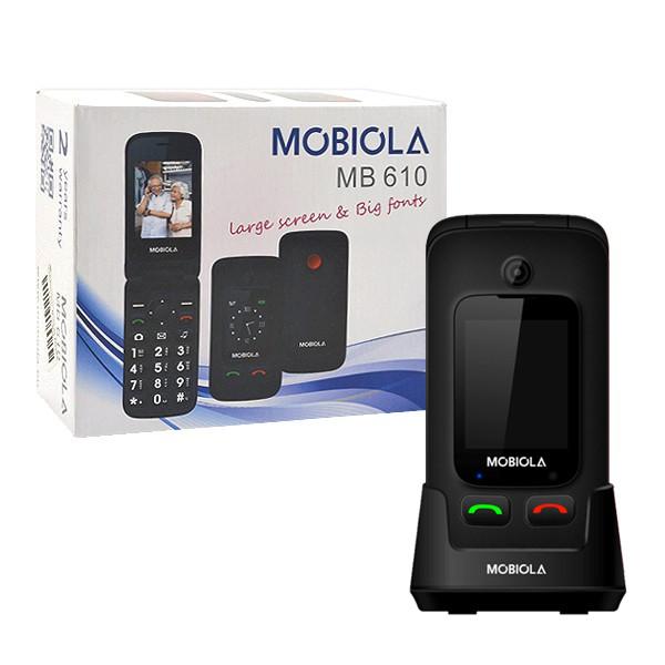 TELEFON GSM MOBIOLA  KLAPKĄ CZARNY MB610