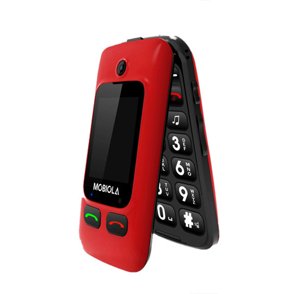 TELEFON GSM MOBIOLA  KLAPKĄ CZERWONY MB610