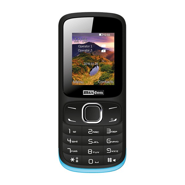 MM128 TELEFON MAXCOM CZARNY DUAL SIM / MM129