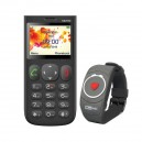 TELEFON KOMÓRKOWY MM750 MAXCOM CZARNY + OPASKA SOS