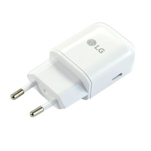 ŁADOWARKA SIECIOWA USB TYP-C 3A BIAŁA LG MCS-N04ER FAST CHARGER K10 K8 2018 V30 G6 G7 K9 K11 Q7 3000mAh