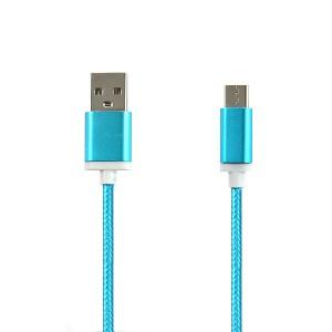 KABEL USB TYP-C NYLON NIEBIESKI TYP C TYPC 1,2M