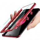 ETUI PANCERNE 360 SAMSUNG S9 PLUS CZERWONY NAKŁADKA G965 + FOLIA LCD