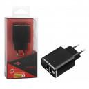 ŁADOWARKA SIECIOWA 2 X USB 3A CZARNA LTX FAST CHARGER  QUICK 3A 3.0 FASTON 3000mAh