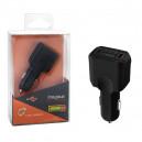 ŁADOWARKA SAMOCHODOWA 4 X USB 3A CZARNA FAST CHARGER QUICK 4XUSB 3.0 FASTON 3000mAh