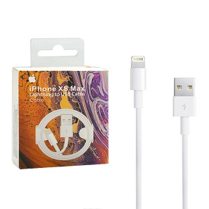 APPLE IPHONE XS XR MAX KABEL USB BIAŁY BOX  LIGHTNING FOXCON RETAIL BOX