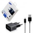 ŁADOWARKA SIECIOWA USB MICRO 2A CZARNA SAMSUNG ETA-U90EBE + ECB-DU4EBE UNIWERSALNA RETAIL 2000mAh
