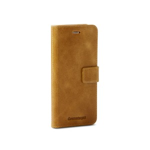 IPHONE 7 / 8 PLUS COPENHAGEN MAGNETIC BOOK KABURA PORTFEL ETUI BRĄZ SKÓRA NATURALNA IPHONE 8 PLUS