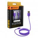 KABEL USB IPHONE FIOLETOWY CANYON BOX CERTYFIKOWANY 1M