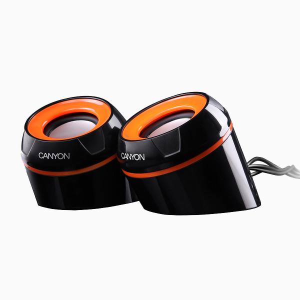 GŁOŚNIKI PC CANYON OFFICE  2X4W USB CZARNY POMARAŃCZOWY CNR-FSP02