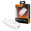 ŁADOWARKA SIECIOWA USB MICRO 1A BIAŁA CANYON CNE-CHA11W 1000mAh