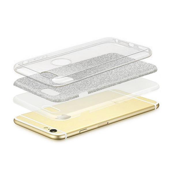 ETUI BLINK SAMSUNG A7 2018 POKROWIEC SREBRNY NAKŁADKA PLECKI A750 GLITTER BLISTER CASE