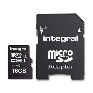 KARTA PAMIĘCI INTEGRAL 16GB + ADAPTER CLASS 10 UHS-I micro SDXC Cards Ultima Pro - UHS-1 90 MB/s transfer