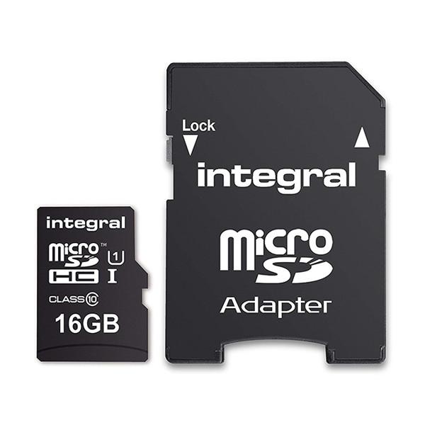 KARTA PAMIĘCI INTEGRAL 16GB + ADAPTER CLASS 10 UHS-I MICROSDHC/XC CLASS 10 UHS-I U1 - UHS-1 90 MB/s transfer