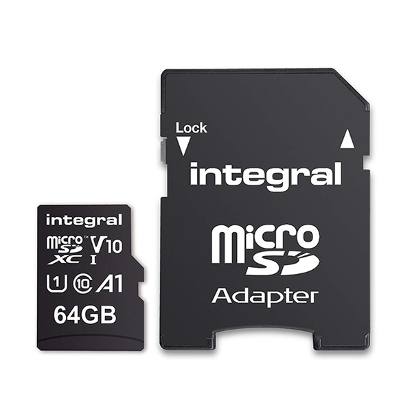 KARTA PAMIĘCI INTEGRAL 64GB + ADAPTER CLASS 10 UHS-I micro SDXC Cards Ultima Pro - UHS-1 90 MB/s transfer INMSDX64G10-90U1