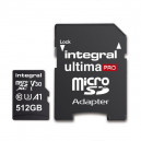 KARTA PAMIĘCI INTEGRAL 512GB + ADAPTER PREMIUM HIGH SPEED MICROSDHC/XC 80V30 UHS-I U3