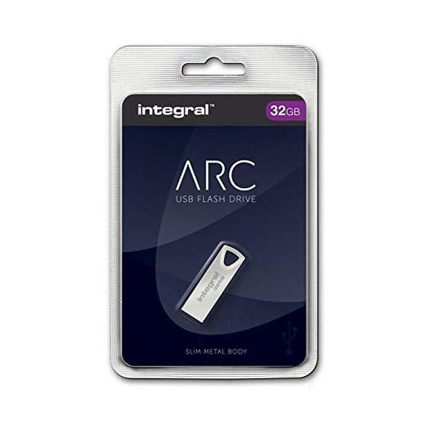 PENDRIVE INTEGRAL 32GB DRIVE ARC METAL INFD32GBARC