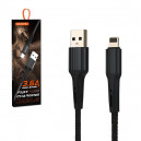 KABEL USB IPHONE 3.6A SOMOSTEL CZARNY 3600mAh QUICK CHARGER QC 3.0 1M POWERLINE SMS-BW06