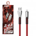 KABEL USB IPHONE 2.4A SOMOSTEL CZERWONY 2400mAh QUICK CHARGER QC 3.0 1M POWERLINE SMS-BW02