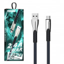 KABEL USB TYP-C 2.4A SOMOSTEL NIEBIESKI 2400mAh QUICK CHARGER QC 3.0 1M POWERLINE SMS-BW02