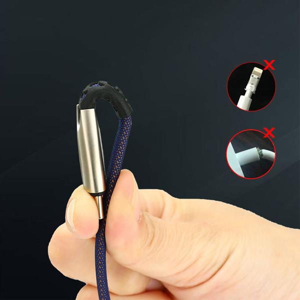 KABEL USB MICRO 2.4A SOMOSTEL NIEBIESKI 2400mAh QUICK CHARGER QC 3.0 1M POWERLINE SMS-BW02