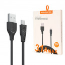 KABEL USB MICRO 3.1A SOMOSTEL CZARNY 3100mAh QUICK CHARGER QC 3.0 2M POWERLINE SMS-BT02
