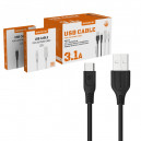 KABEL USB TYP-C 3.1A SOMOSTEL CZARNY 3100mAh QUICK CHARGER QC 3.0 1M POWERLINE SMS-BT09 ECL